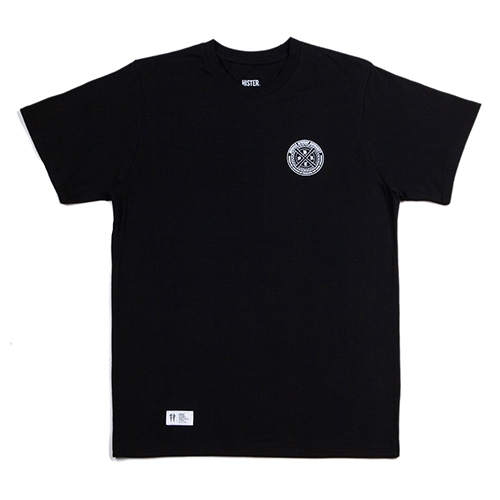 [히스터]CHROME LOGO T-SHIRTS BLACK
