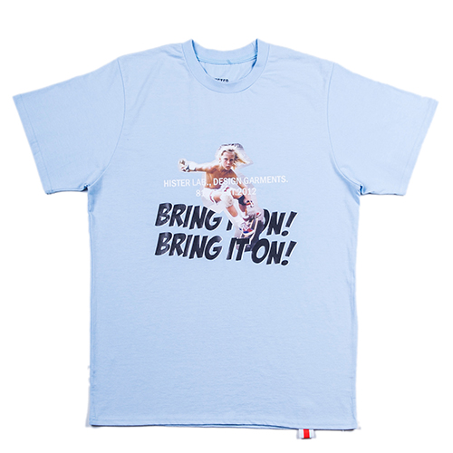 [히스터]BRING IT ON T-SHIRTS SKYBLUE