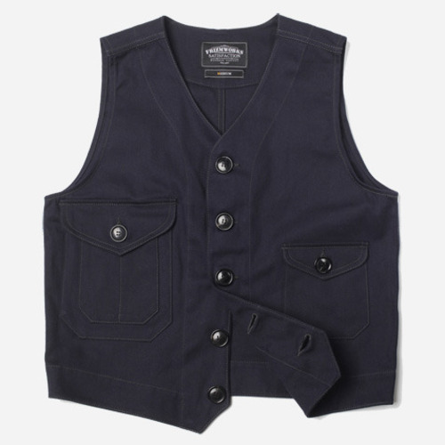 [프리즘웍스]Adventurer twill vest _ navy