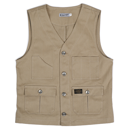 [오버댓]HBT SOLID WORK VEST BROWN