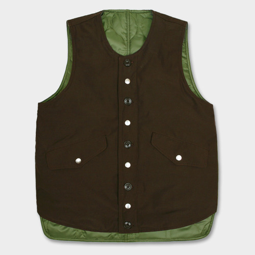 [스웰맙]Swellmob reversible utility vest-brown-