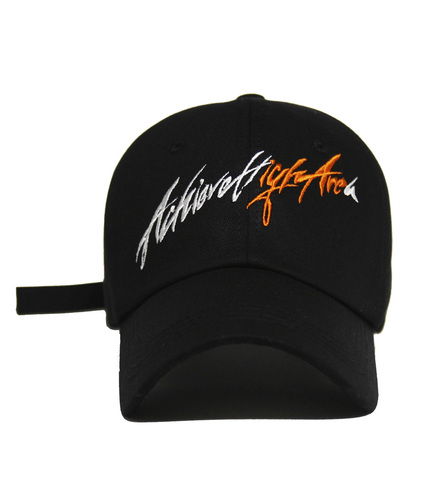 [아차]AChieve High Area lettering Ver.2 ball cap ORANGE