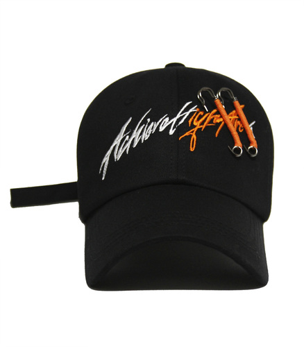 [아차]AChieve High Area lettering Ver.2 ball cap ORANGE Pin Custom ver.