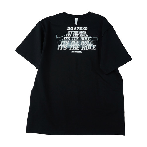 "[노메뉴얼]""it's the rule"" T-shirt black"