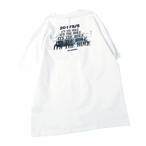 "[노메뉴얼]""it's the rule"" T-shirt white"