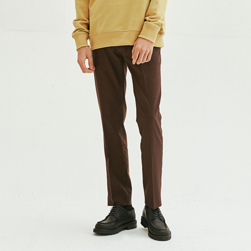 [모노소잉]Solid Trouser (Brown)