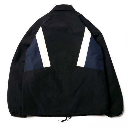[레이지]COLOR LINE COACH JACKET BLACK
