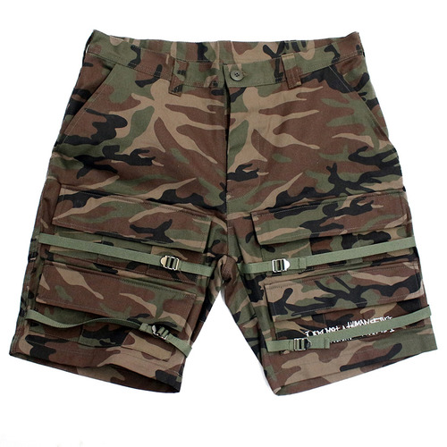 [아이엠낫어휴먼비잉][17SS] Basic Logo Front Pocket Shorts - Camo