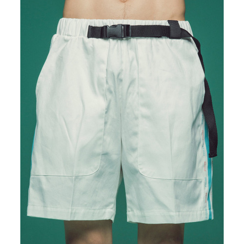 [콰이어티스트]Cotton 2/1 Tape Banding Pants (white)