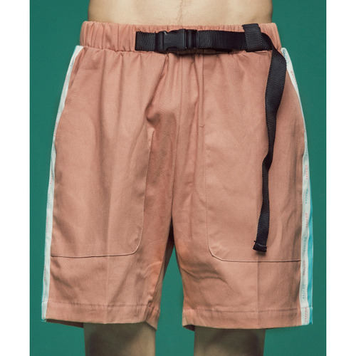 [콰이어티스트]Cotton 2/1 Tape Banding Pants (pink)