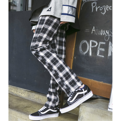 [시그니처]UNISEX Check Pants [Black]