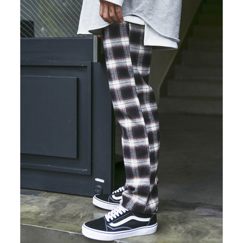 [시그니처]UNISEX Check Pants [Brown]