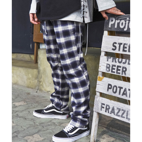 [시그니처]UNISEX CHECK PANTS [BLUE]