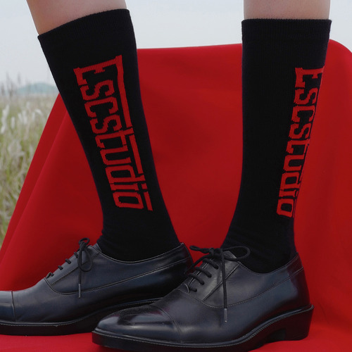 [ESC STUDIO]black logo socks