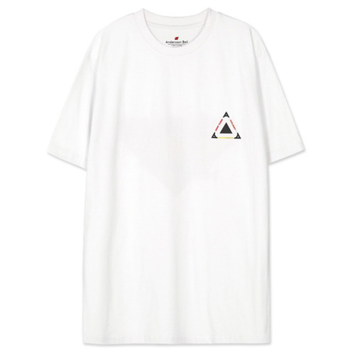 [앤더슨벨]UNISEX NEW YORK LOGO T-SHIRT atb146u White