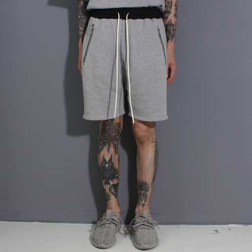 [페이드6]POCKET ZIPSHORT GREY