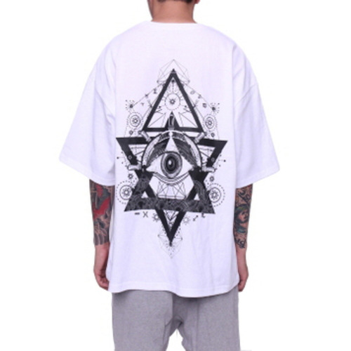 [페이드6]EYE BOXY T-SHIRT WHITE