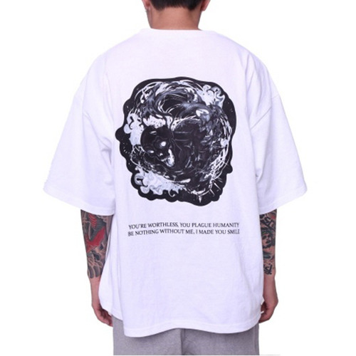 [페이드6]KULL GHOST BOXY T-SHIRT WHITE