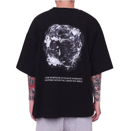 [페이드6]SKULL GHOST BOXY T-SHIRT BLACK
