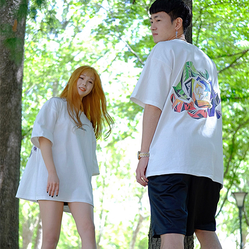 [에이클라운] Tropical Logo Half-Tee White