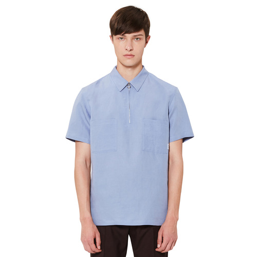 [모노소잉]Half Zipper Shirts(Airy Blue)