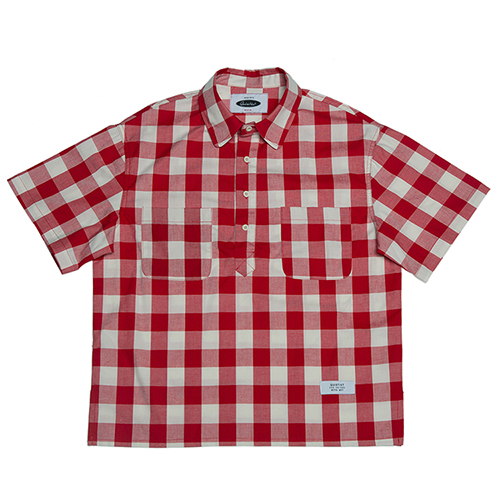 [콰이어티스트]Checker Board Pull-over Shirts red