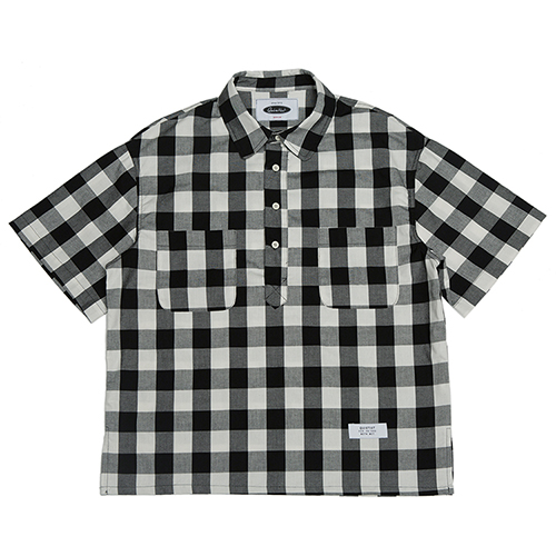 [콰이어티스트]Checker Board Pull-over Shirts black
