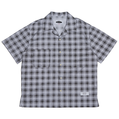 [콰이어티스트]Solid Check Open-collar Shirts black