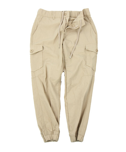 [콘보이] Herringbone Cotton Jogger Pants Beige