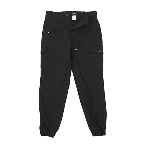 [콘보이] Herringbone Cotton Jogger Pants Black