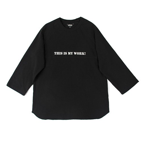 [콘보이] Work Raglan Sleeves Black