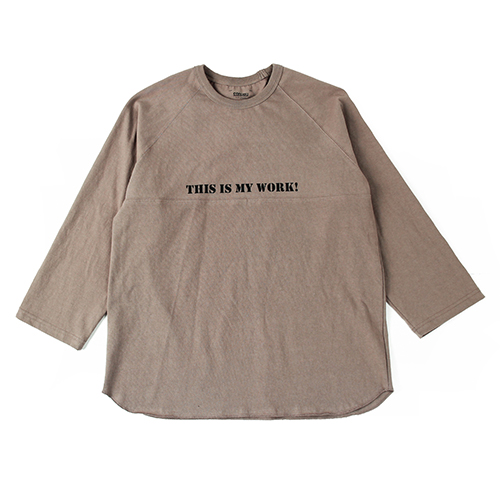 [콘보이] Work Raglan Sleeves Brown