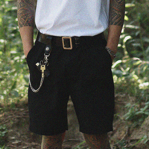 [콘보이] Fatigue RIB Half Pants Black