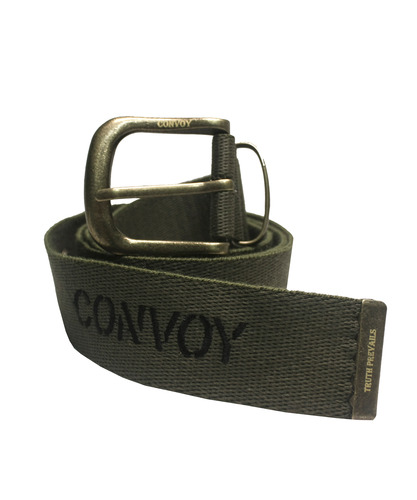 [콘보이]  WEBBING EMBROIDERY BELT - KHAKI