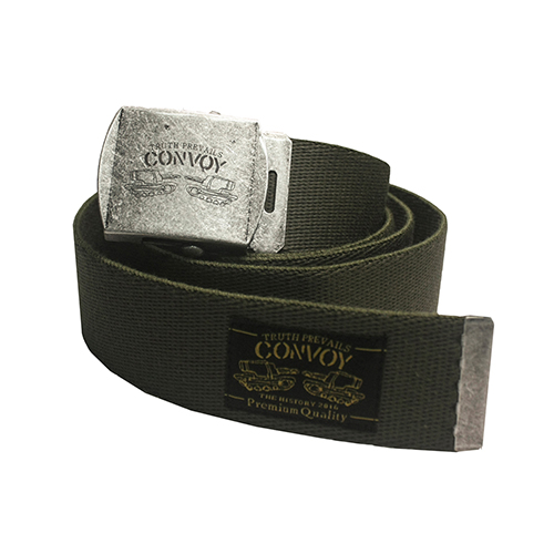 [콘보이] WEBBING BUCKLE BELT - KHAKI