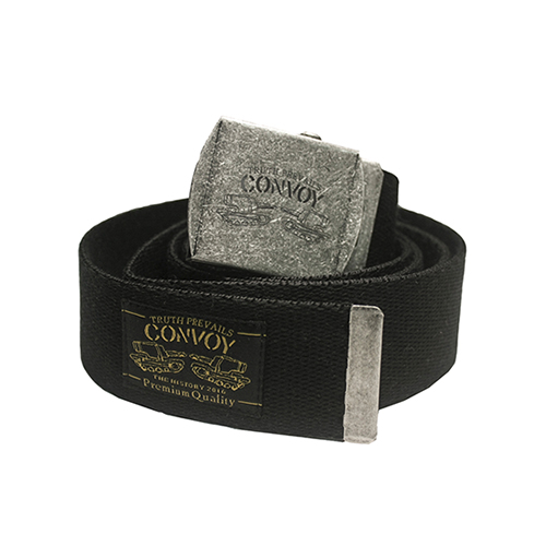 [콘보이] WEBBING BUCKLE BELT - BLACK