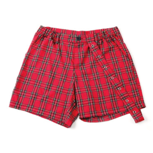 [네버커먼]EYELET CHECK SHORT PANTS