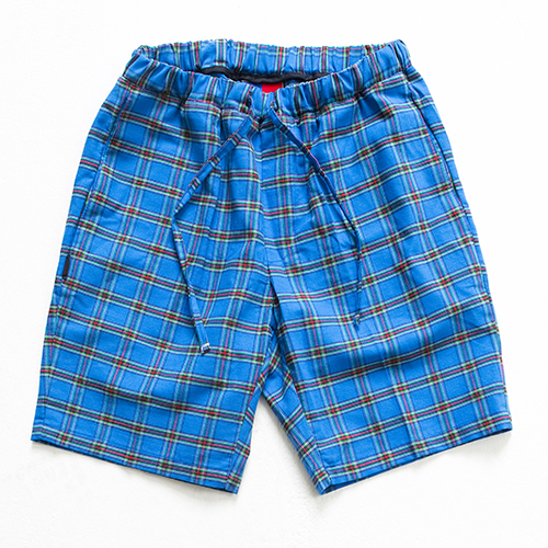 [아워히스토리]color chk 1/2 pants_blue