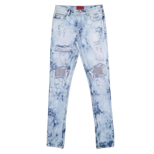 [데드엔드]LEOPARD ZIPPER DENIM JEANS