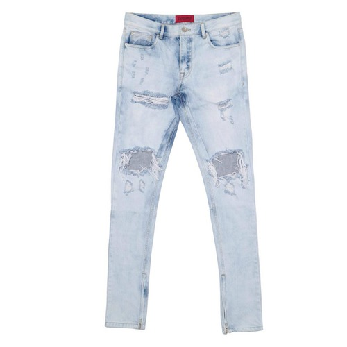 [데드엔드]LIGHT BLUE ZIPPER DENIM JEANS