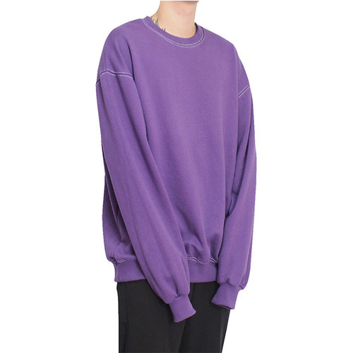 [클라코] STITCH SWEAT SHIRTS (PURPLE)