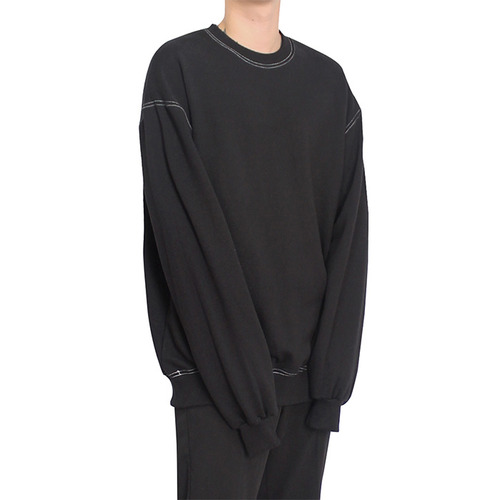 [클라코] STITCH SWEAT SHIRTS (BLACK)
