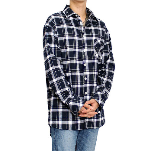 [클라코] FLANNEL SHIRTS V3 (NAVY)