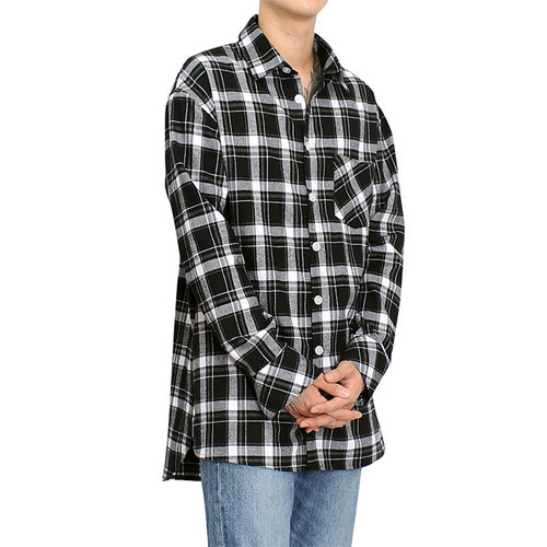 [클라코] FLANNEL SHIRTS V3 (BLACK)