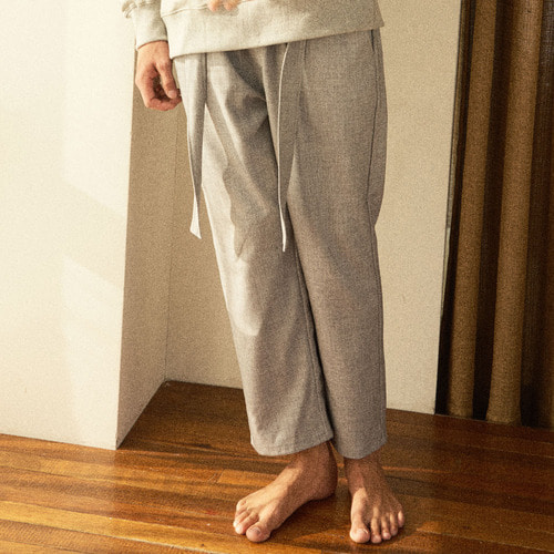 [프레리]FOGGY BELTED SEMI-WIDE PANTS(Gray)