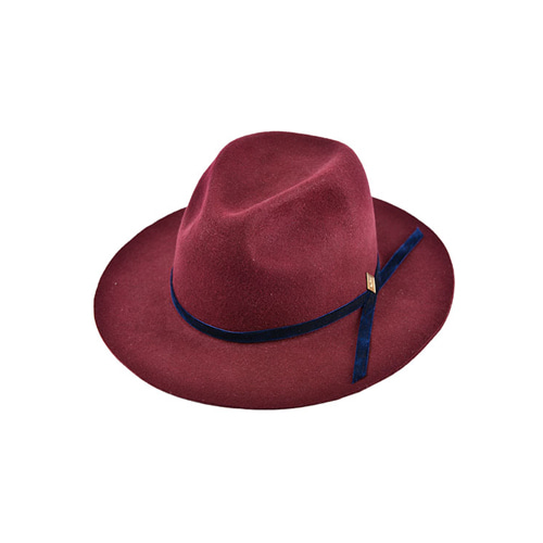 [밀리어네어햇]velvet custom fedora [WINE]