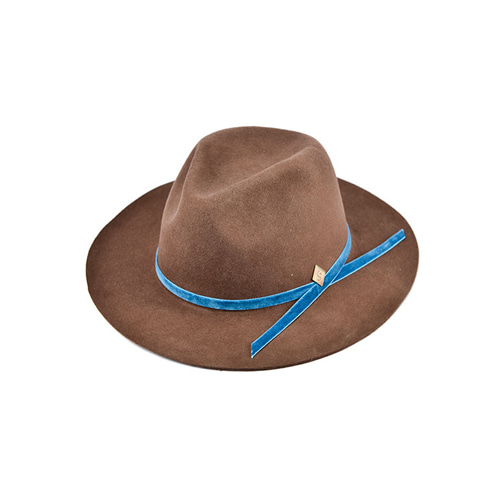 [밀리어네어햇]velvet custom fedora [BROWN]