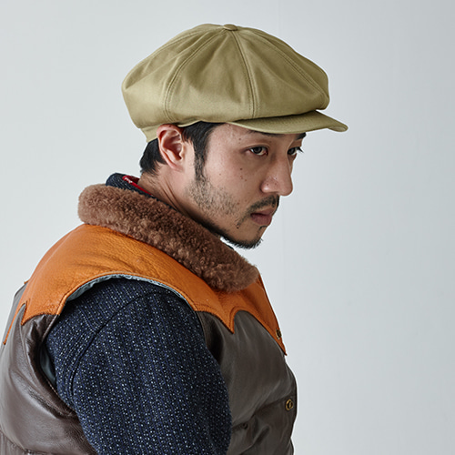 [밀리어네어햇]Rugged fabric newsboy cap [BEIGE]