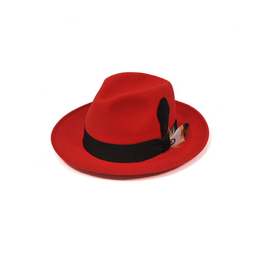 [밀리어네어햇]plume custom classic wool fedora [RED]