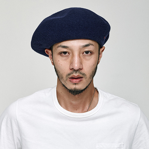 [밀리어네어햇]OVER SIZE BERET [NAVY]